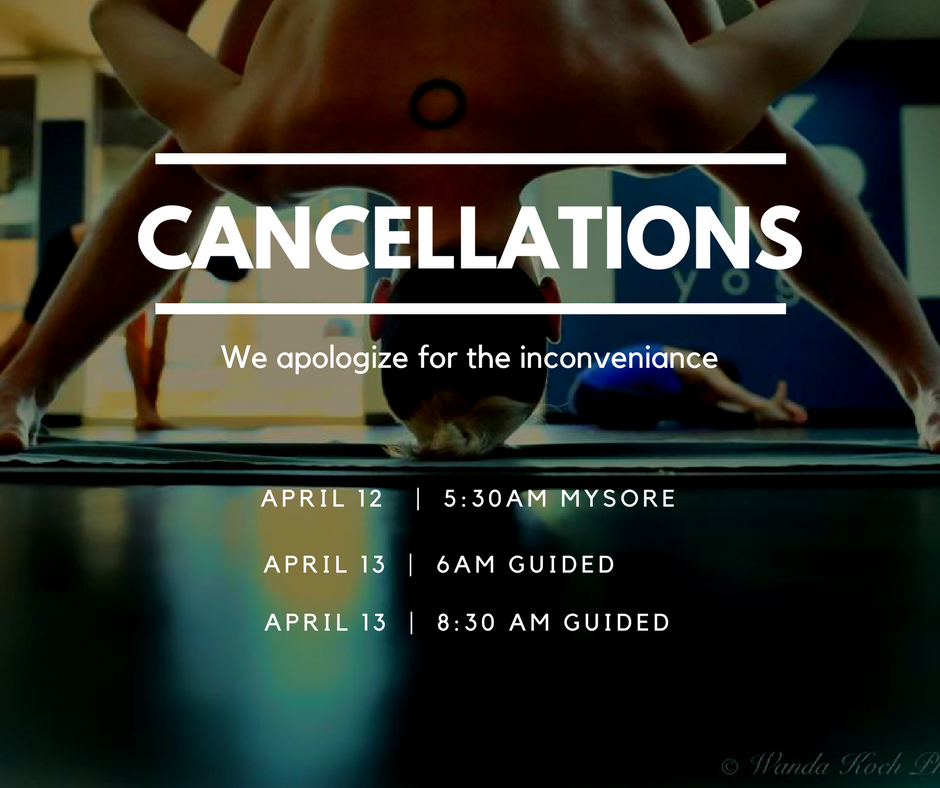 Cancellations this Week